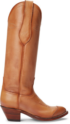 Ralph Lauren Kiera Leather Cowboy Boot