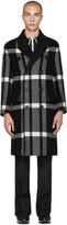 Burberry Black Check Oversized Coat