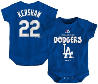 Majestic Newborn & Infant Clayton Kershaw Royal Los Angeles Dodgers Stitched Player Name & Number Bodysuit