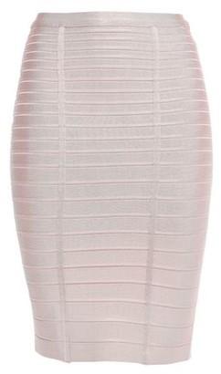 Herve Leger Alabaster Bandage Pencil Skirt