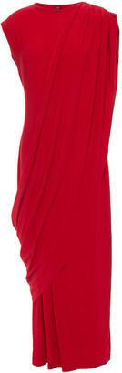 Norma Kamali Draped Stretch-jersey Midi Dress