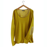 Petit Bateau Women's long-sleeved linen and lacquered linen tee