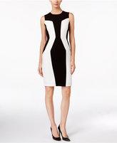 Calvin Klein Abstract Geo Ponte Dress