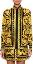 Versace Baroque-Print Silk Blouse