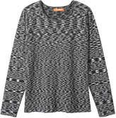 Joe Fresh Women's Space Dye Sweater, Light Grey Mix (Size XS)