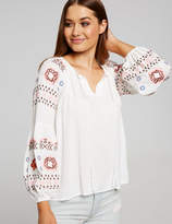Dotti Gypsy Embroidered Top