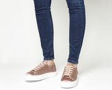 Office Flicker Satin Lace Up Trainers