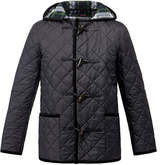 Gloverall Short Quilted Duffle Coat With Hood