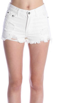 POL White Denim Shorts