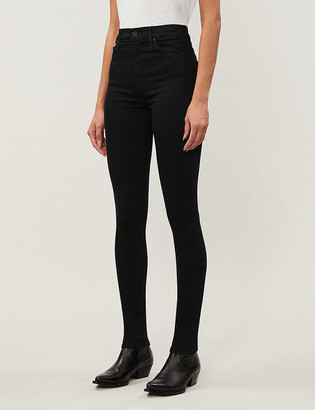 Mother The Super Swooner high-rise stretch-denim jeans