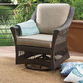 Bed Bath & Beyond Savannah Wicker Swivel Chair in Sand