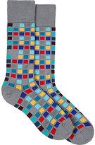 Paul Smith Men's Tile Cotton-Blend Mid-Calf Socks