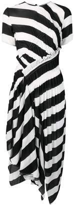 Preen Line striped asymmetric dress