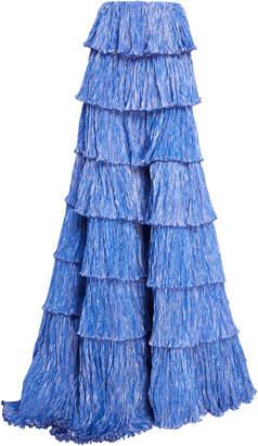 Rosie Assoulin Tiered Plissé Ball Skirt