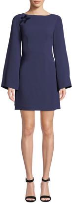 Trina Turk Engaging Sheer-Back Crepe Dress