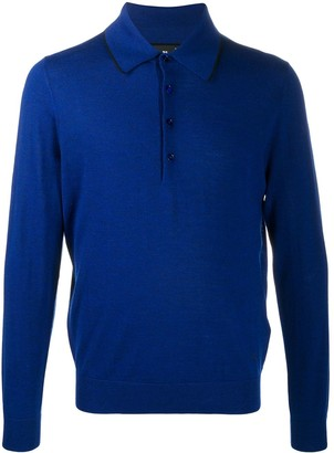 Paul Smith Knitted Long-Sleeved Polo Shirt