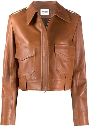 KHAITE Cordelia leather jacket