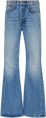 RE/DONE Rigid High-Rise Flared Jeans