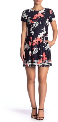 Vince Camuto Floral Printed Fit & Flare Dress (Petite)