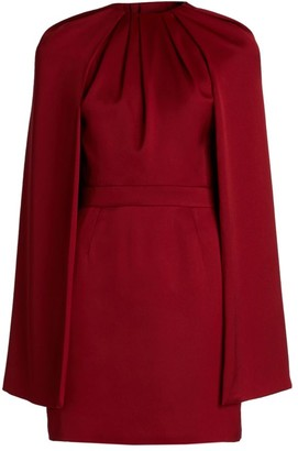 Alexander McQueen Cape Wool Mini Dress