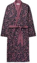 Desmond & Dempsey Printed Cotton-sateen Robe