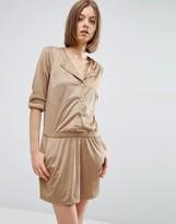 Vila Faux Suede Dress with Elastic Waist