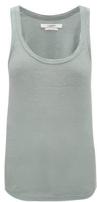 Etoile Isabel Marant Vickyo Ribbed Linen Tank Top - Womens - Green