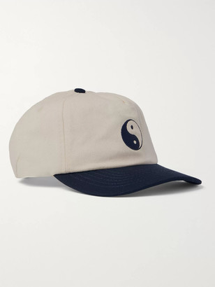 Duality Embroidered Cotton-Twill Baseball Cap