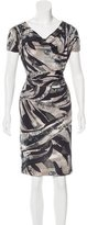 Emilio Pucci Abstract Paint Silk Dress
