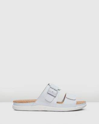Clarks Women's White Flat Sandals - Step June Sun - Size One Size, 3 at The Iconic