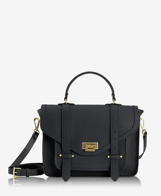 GiGi New York Hayden Satchel, Black Pebble Grain