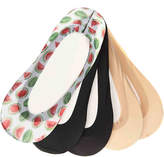 Me Moi Women's Watermelon No Show Liners - 5 Pack -Multicolor