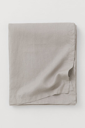 H&M Washed Linen Tablecloth - Brown