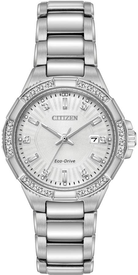 Citizen Eco-Drive Women's Riva Diamond Stainless Steel Watch - EW2460-56A