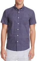Saturdays Nyc Esquina Stipple Print Slim Fit Shirt