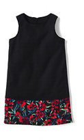 Classic Little Girls Sheath Dress-Bright Cherry Floral