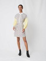Maje Printed cotton shirt dress