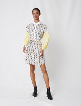 Maje Printed cotton shirt dress