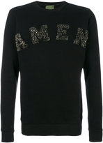 Amen studded logo sweatshirt
