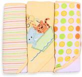 SpaSilk Ark 3-Pack Hooded Towel Set in Yellow