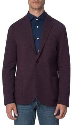 Eleventy Twill Laser-Cut Stretch Jacket