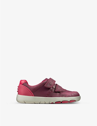 Clarks City Oasis Lo leather trainers 1-5 years