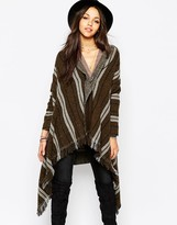 Maison Scotch Warm Wool Blend Poncho