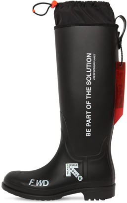 F Wd 30mm Printed Rubber Rain Boots