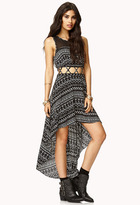 Forever 21 Tribal Print High-Low Dress