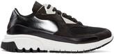 Neil Barrett Black Leather Urban Sneakers