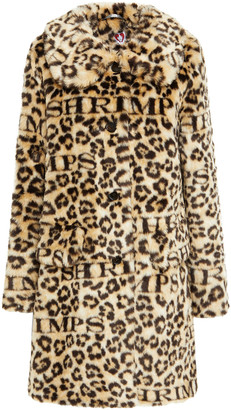 Shrimps Pyrus Leopard-print Faux Fur Coat