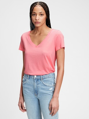 Gap Organic Cotton Vintage V-Neck T-Shirt