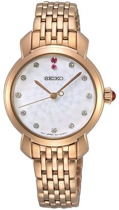Seiko SUR624P Ladies Quartz Rose Gold Swarovski MOP Dial