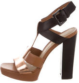 Elizabeth and James Platform T-Strap Sandals